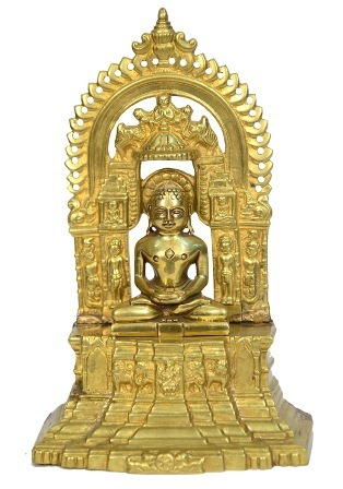 Unique Brass Jain Lord Mahavir Swami Art India/Asia