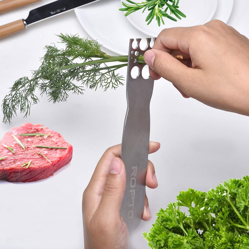 Stainless Steel Leaf Herb Stripper, LooseLeaf Kale, Chard, Collard Greens Kale Razor and Kitchen Herb Stripper